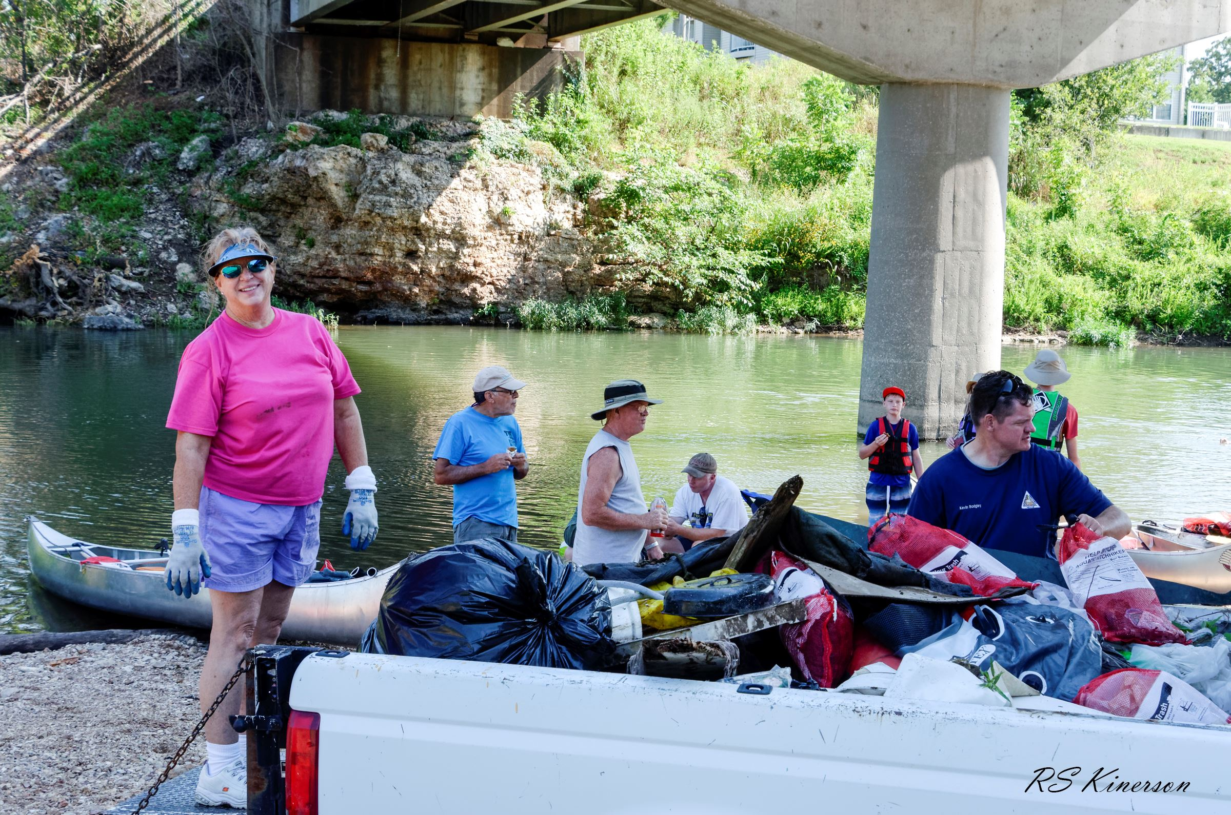 Shoal Creek Clean Up first load